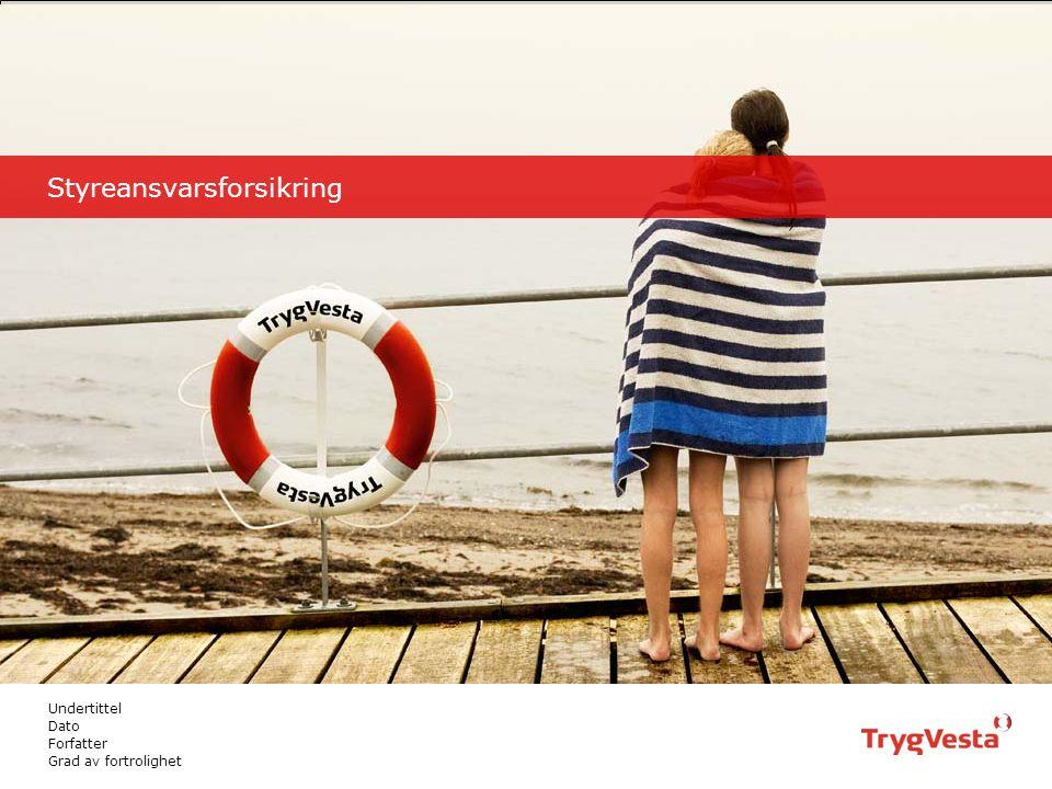TRYG PRÆSENTATION12016.09.22 Styreansvarsforsikring Tittel dias med foto Rediger eller slet: undertittel, dato, forfatter og grad av fortrolighet.