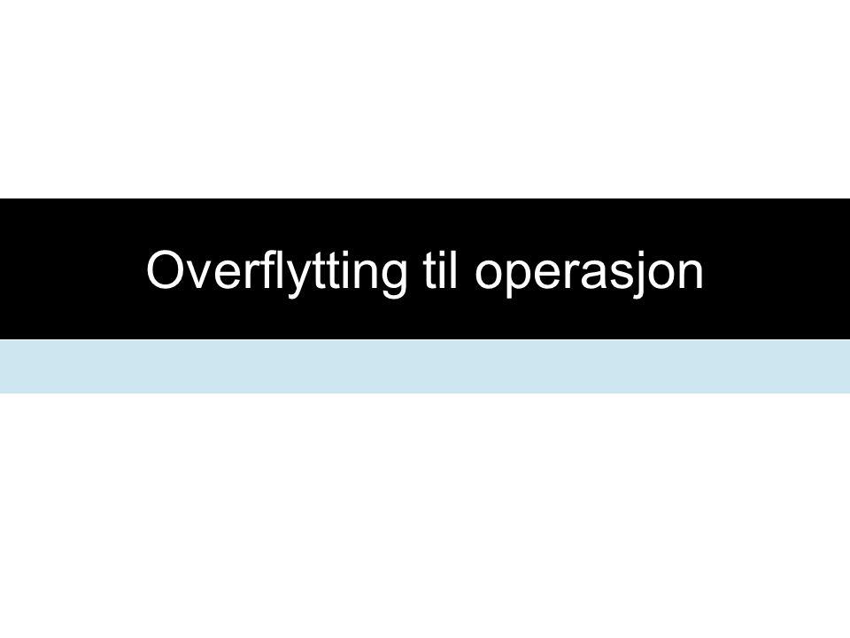 Overflytting til operasjon