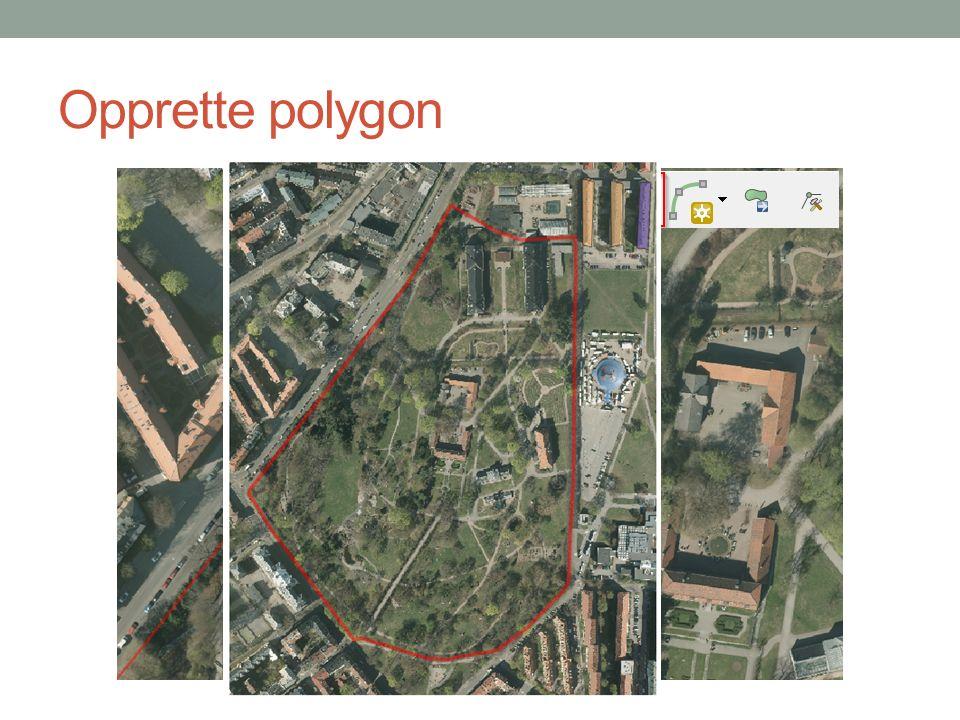 Opprette polygon