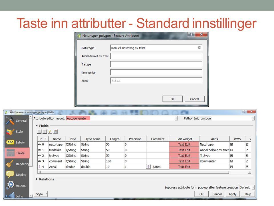 Registrerings skjemaer Qgis PLUGIN - Form Value Relation Laste ned fra herher Eller installere gjennom Qgis Plugins
