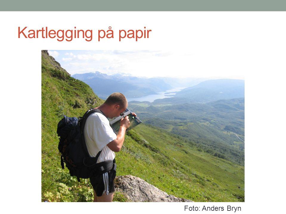 Kartlegging på papir Foto: Anders Bryn