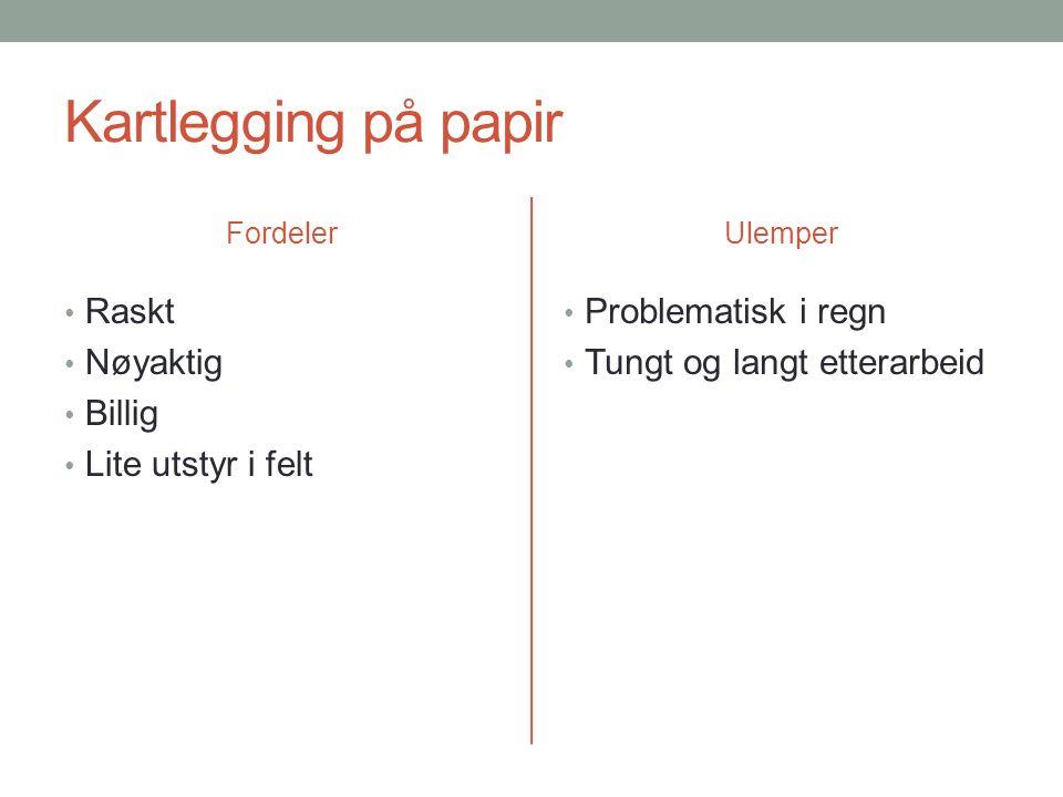 Kartlegging på feltPAD Foto: Heidrun A. Ullerud