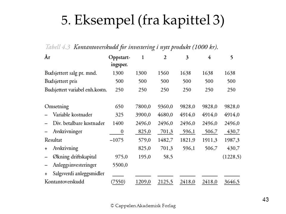 © Cappelen Akademisk Forlag 43 5. Eksempel (fra kapittel 3)