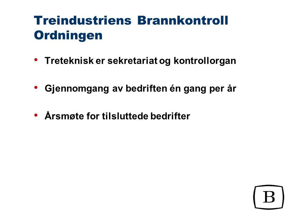 Treindustriens Brannkontroll Ordningen Inspeksjons- og kontrollperm er sekretariatets verktøy for å administrere ordningen Vedtekter Prosedyrer for gjennomføring av kontroller Standardiserte sjekklister Mal for rapportering
