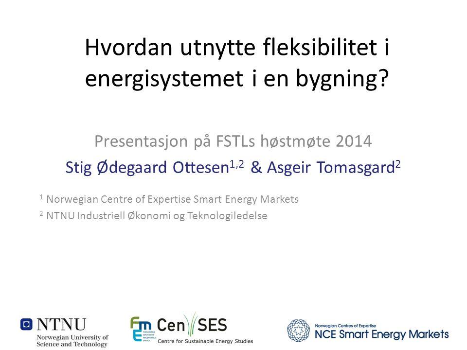 Hvordan utnytte fleksibilitet i energisystemet i en bygning.