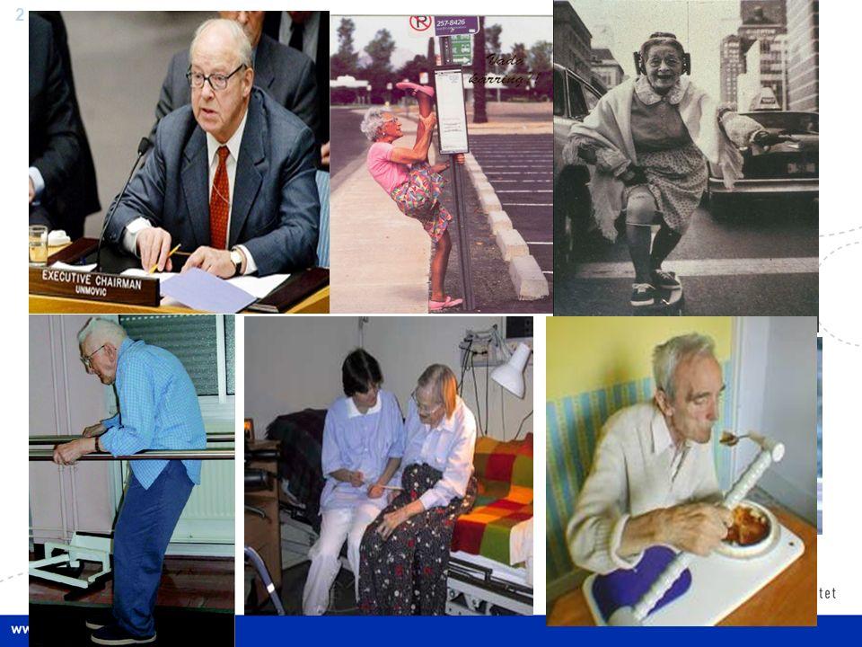 13 Den gamle og fastlegen Fastlegens arbeidsprinsipp: på etterspørsel Behov for mer aktiv tilnærming Koordineringsbehov medisinsk oppfølging.