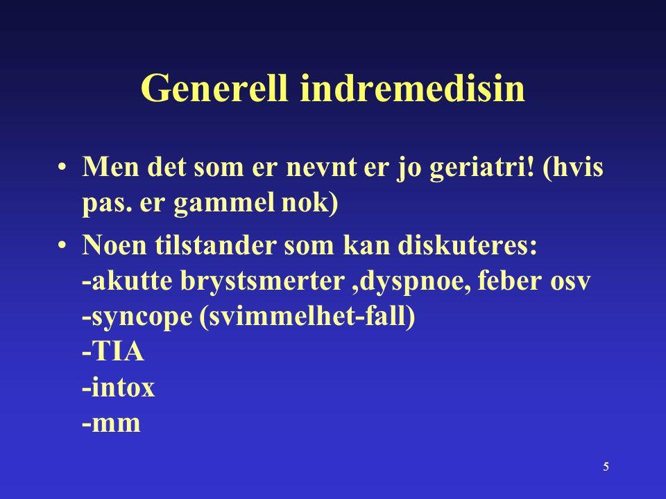 16 Aktuelle problemer (Sett fra Tromsø) Antall gamle med sammensatte behov øker i akuttmottaket.