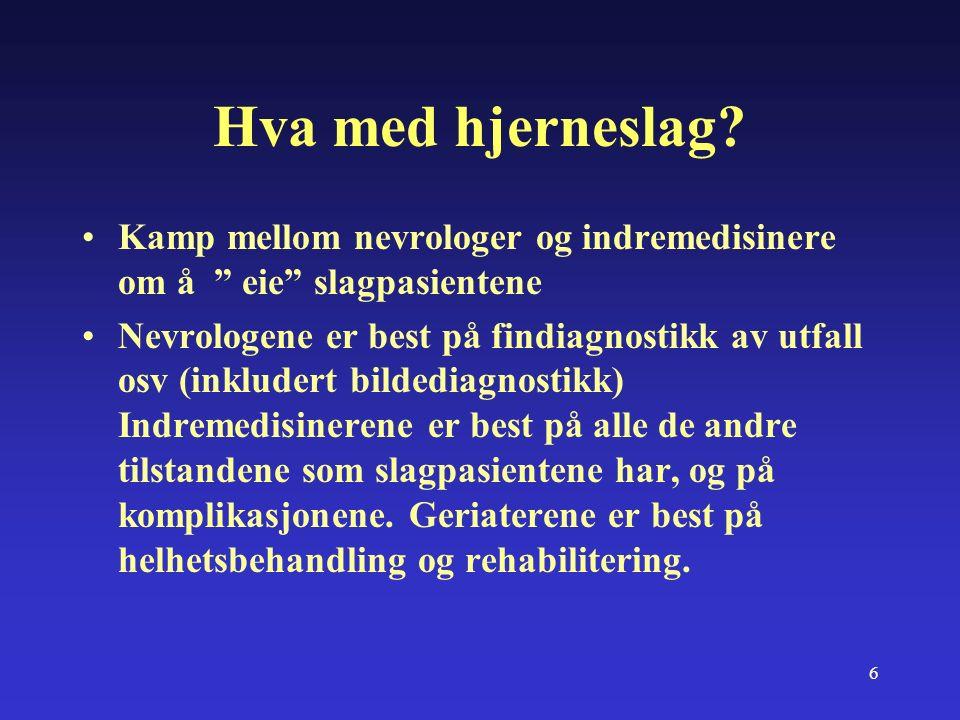 17 Tromsø kommune (sitater sakset fra avisene- Helse-sosialsjef) UNN har ikke lokalsykehusfunksjon for Tromsø kommune Vi har regnet med at pasientene må ligge i UNN en tid (av mangel på sykehjemsplasser) Eldreomsorgen i Tromsø kommune er god