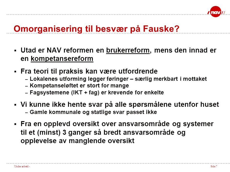 Under arbeid -Side 7 Omorganisering til besvær på Fauske.