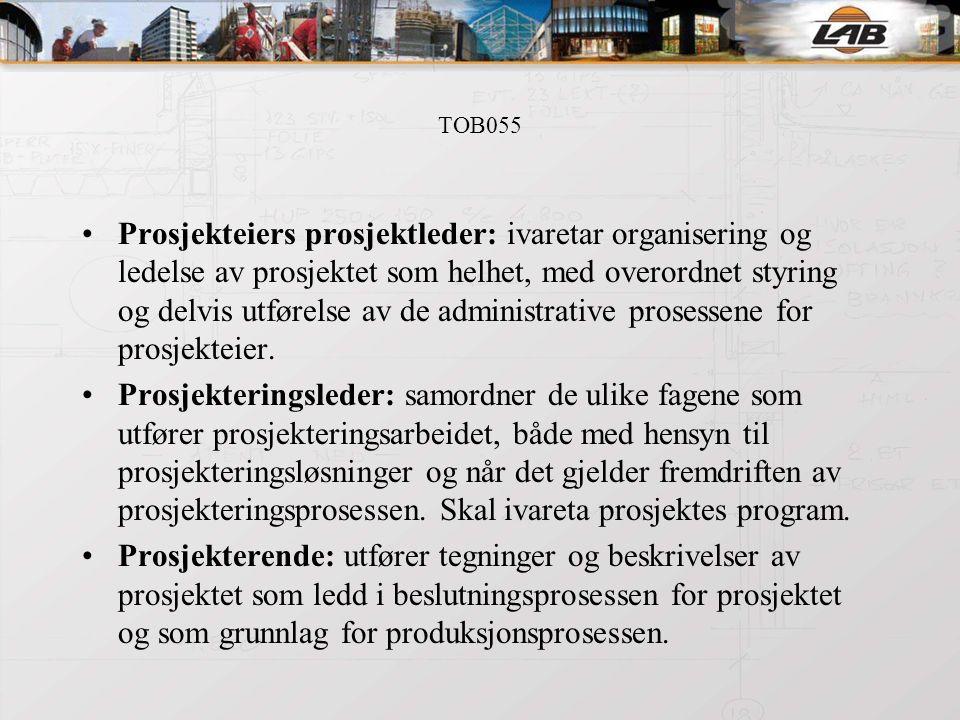 TOB055 Entreprenørrollen: innebærer å påta seg et oppdrag som utførende med ansvar for bestemte risiki til utførelsen.
