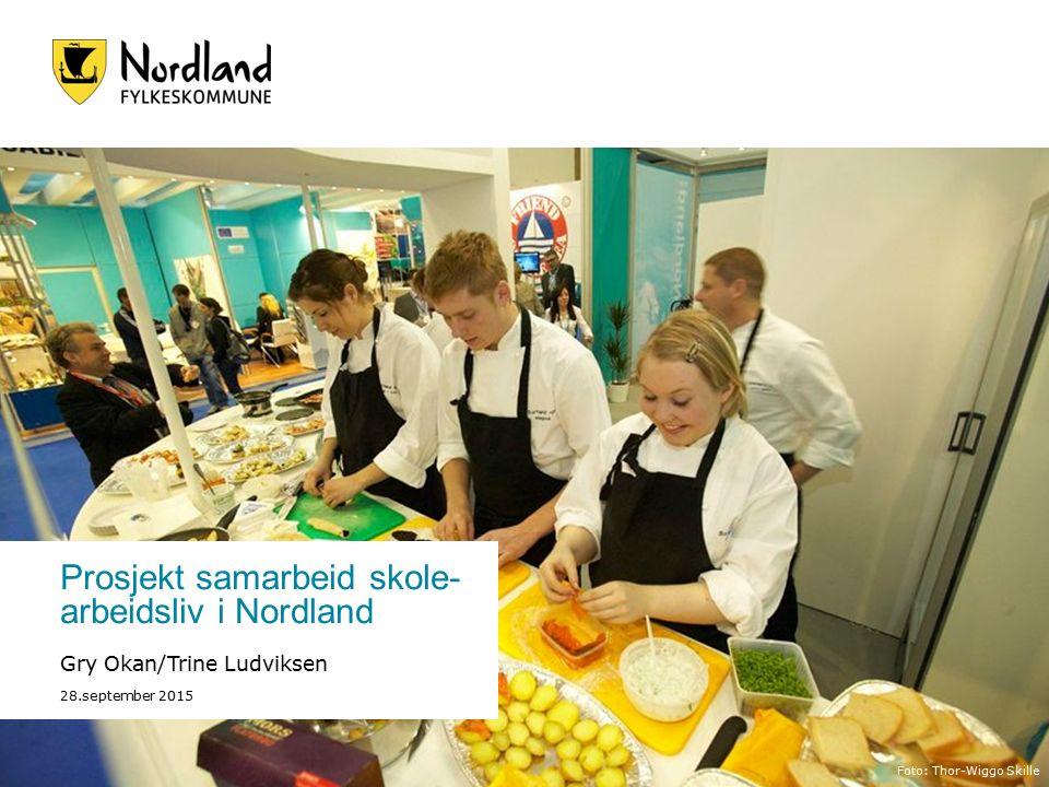 Prosjekt samarbeid skole- arbeidsliv i Nordland Gry Okan/Trine Ludviksen 28.september 2015 Foto: Thor-Wiggo Skille