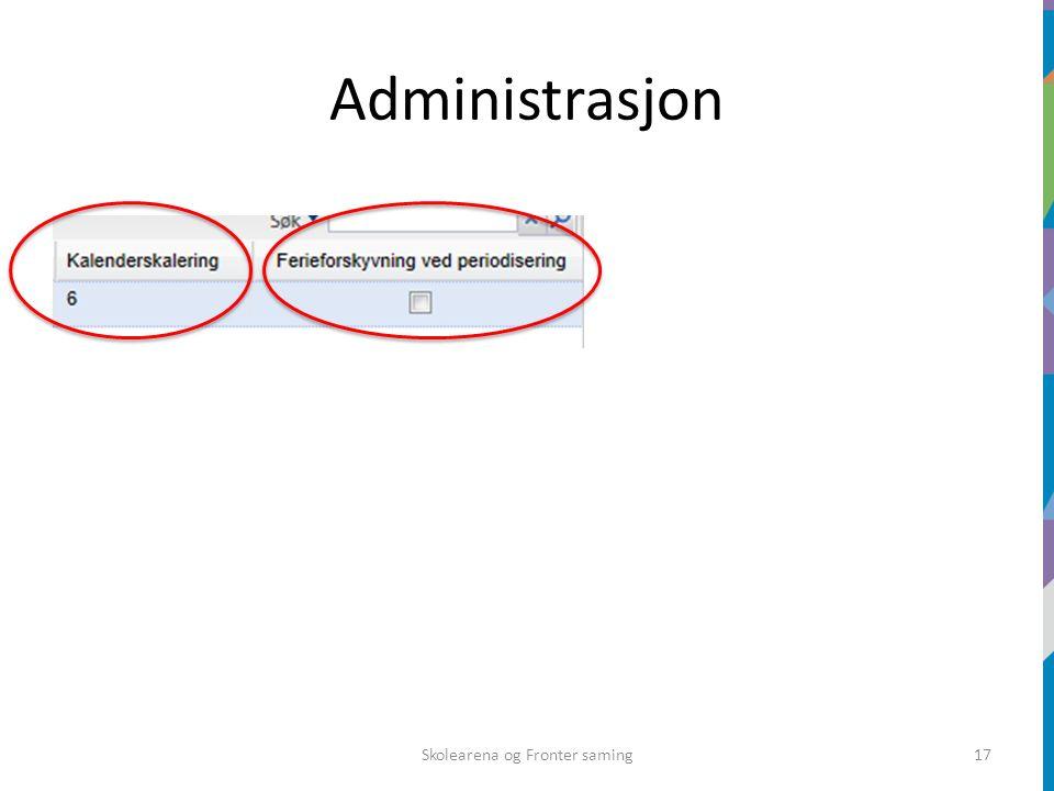 Administrasjon Skolearena og Fronter saming17