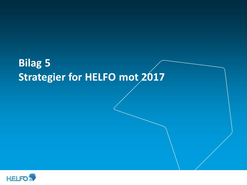 Bilag 5 Strategier for HELFO mot 2017