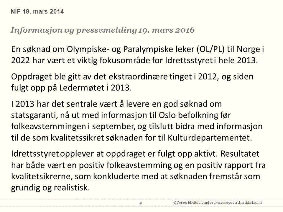 2© Norges idrettsforbund og olympiske og paralympiske komité NIF 19.