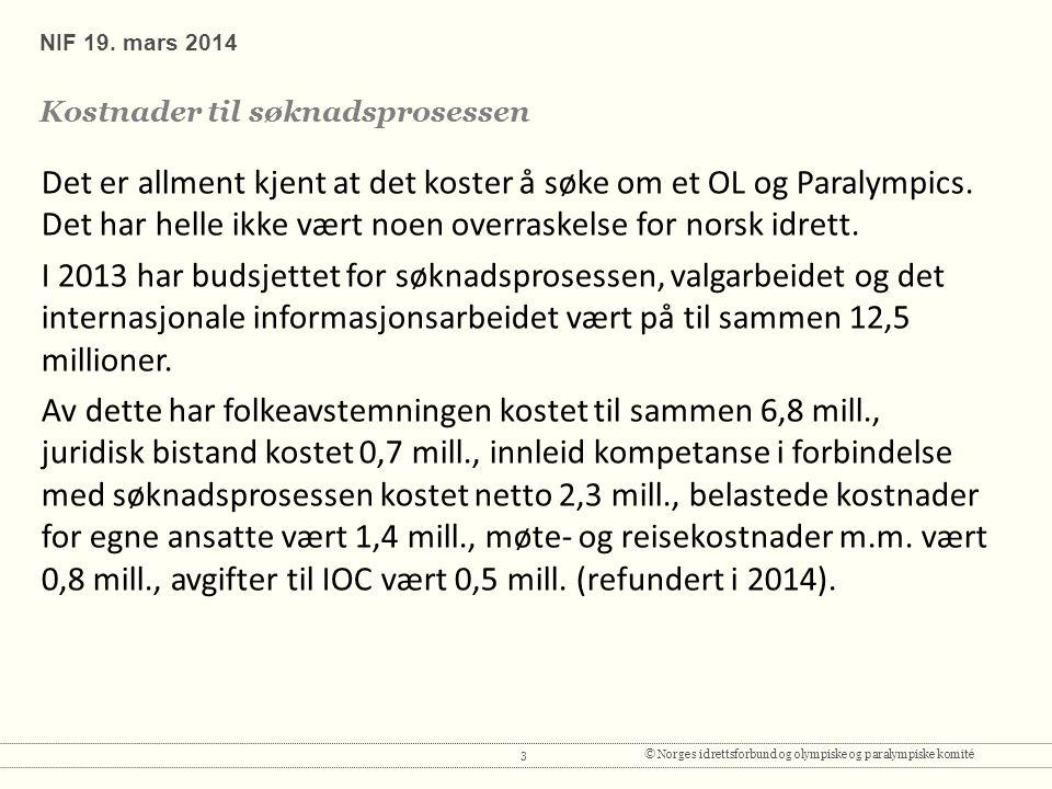 3© Norges idrettsforbund og olympiske og paralympiske komité NIF 19.