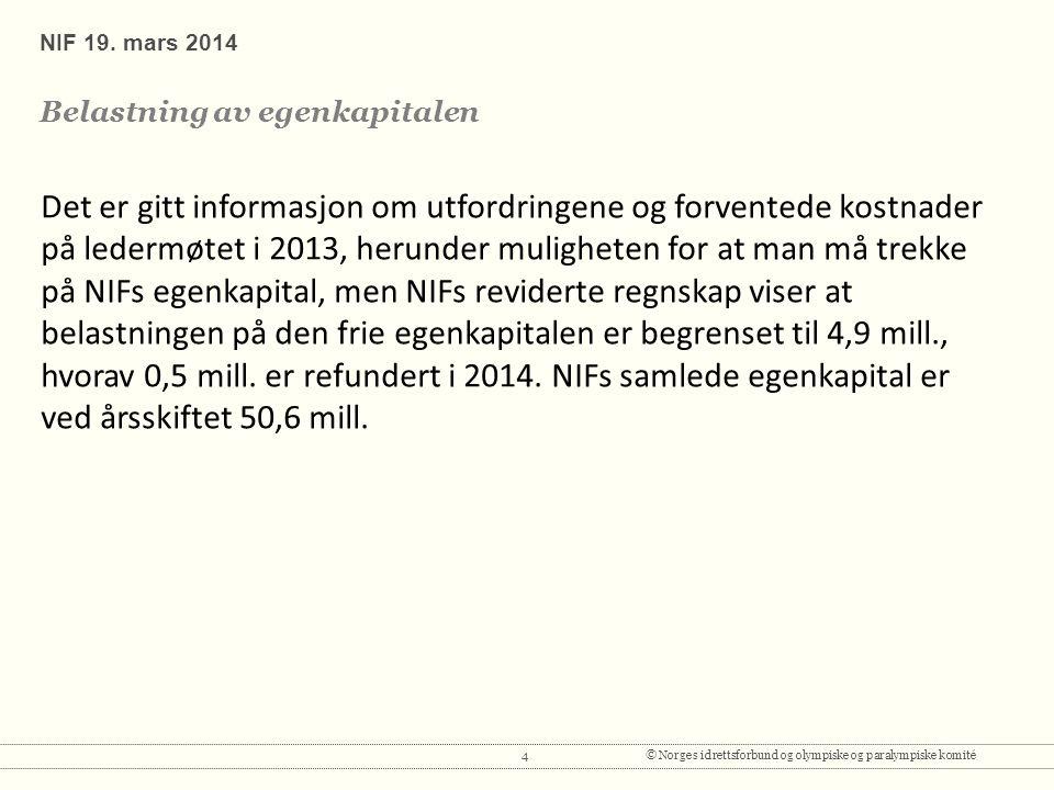 4© Norges idrettsforbund og olympiske og paralympiske komité NIF 19.