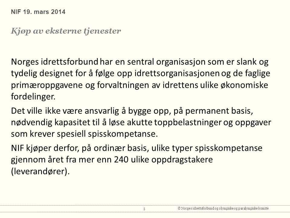 5© Norges idrettsforbund og olympiske og paralympiske komité NIF 19.