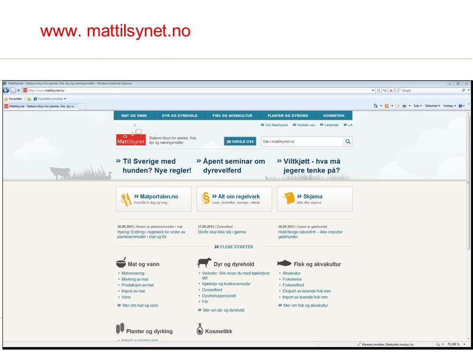 www. mattilsynet.no