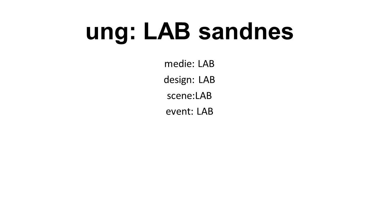 ung: LAB sandnes medie: LAB design: LAB scene:LAB event: LAB