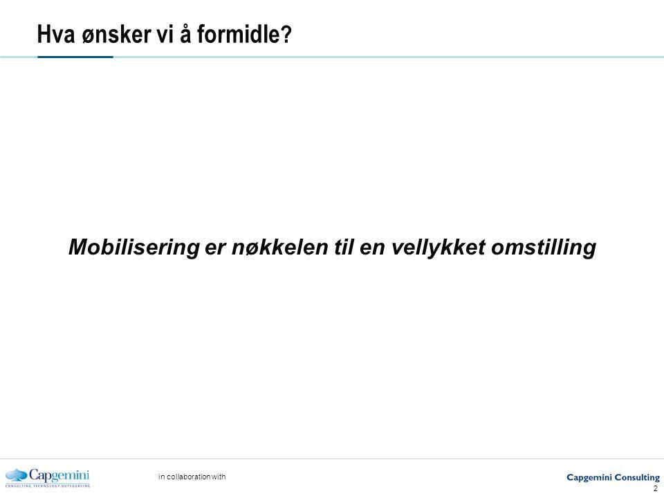 in collaboration with 2 Hva ønsker vi å formidle .