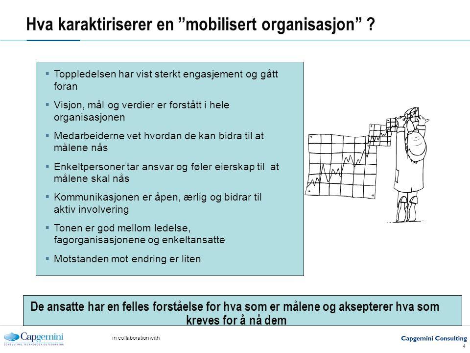 in collaboration with 4 Hva karaktiriserer en mobilisert organisasjon .