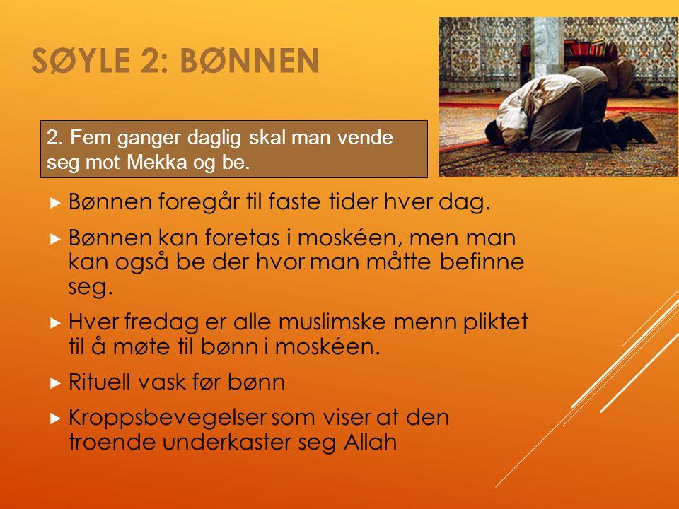 SØYLE 2: BØNNEN  Bønnen foregår til faste tider hver dag.