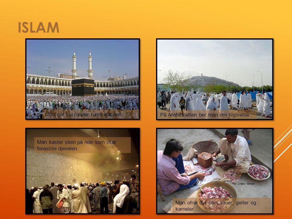 ISLAM Man går sju runder rundt Kabaen. På Arafatsletten ber man om tilgivelse.