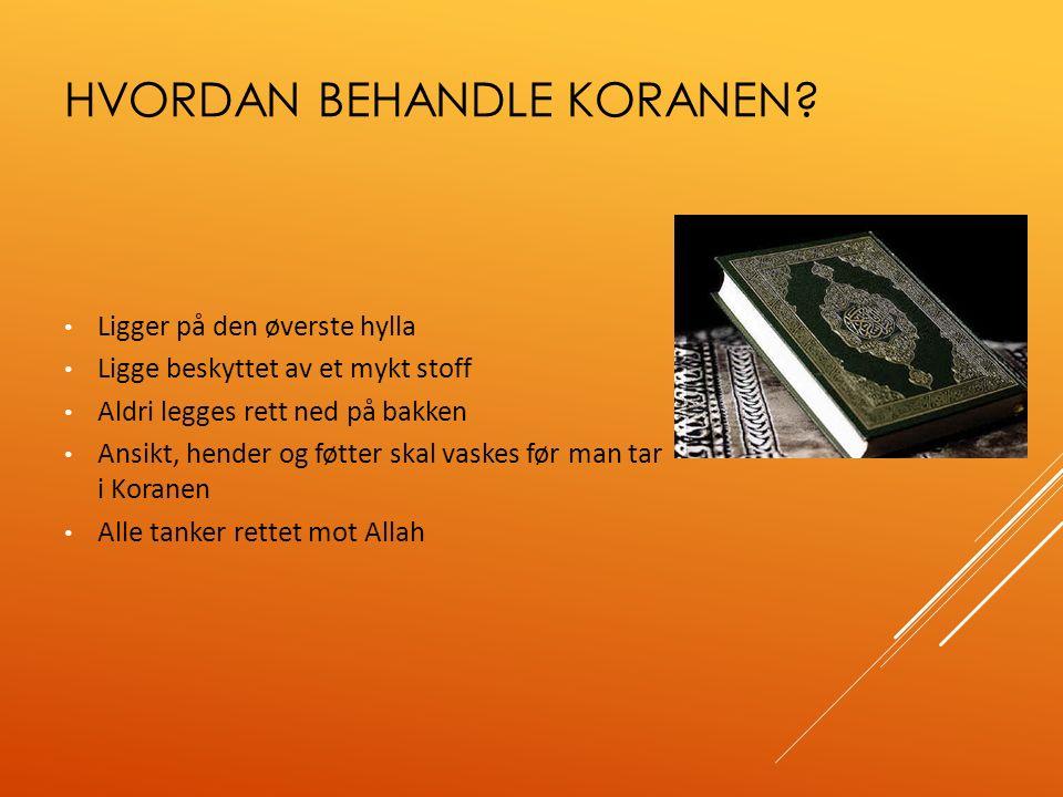 DE FEM SØYLENE  Islams fem søyler er en viktig del av Koranen.