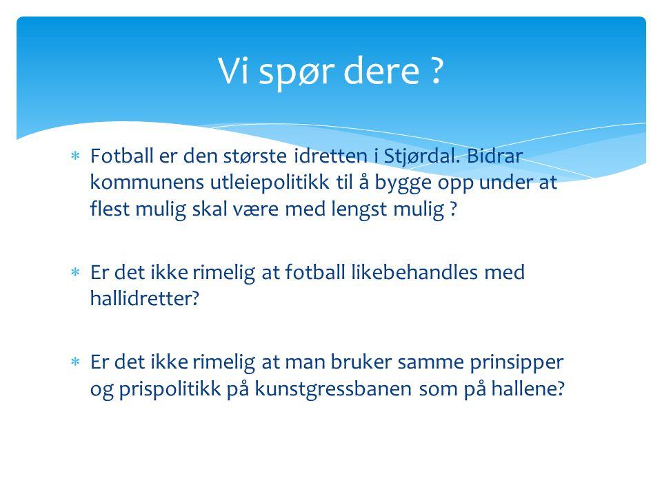  Fotball er den største idretten i Stjørdal.
