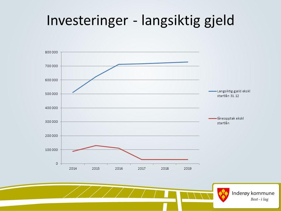 Investeringer - langsiktig gjeld