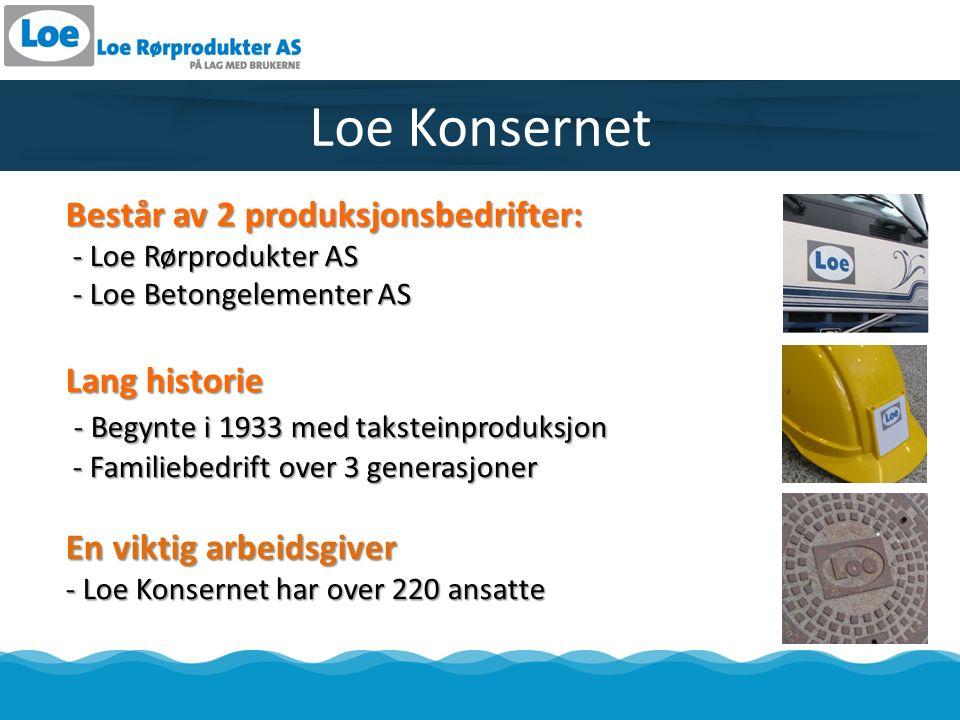 Loe Rørprodukter AS - Produserer rør og kummer i betong -Ca.