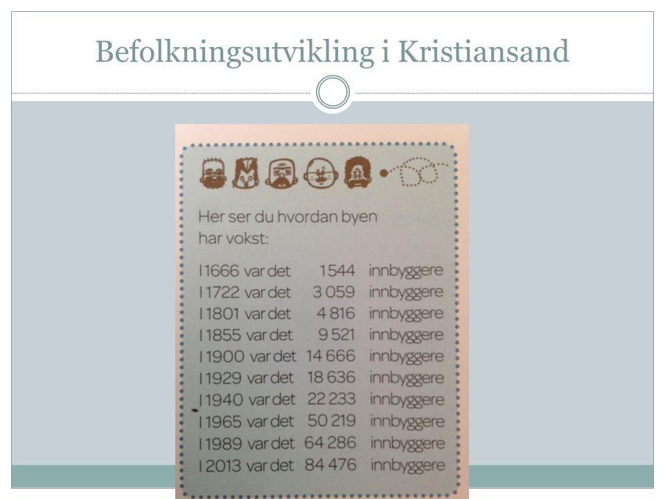 Befolkningsutvikling i Kristiansand