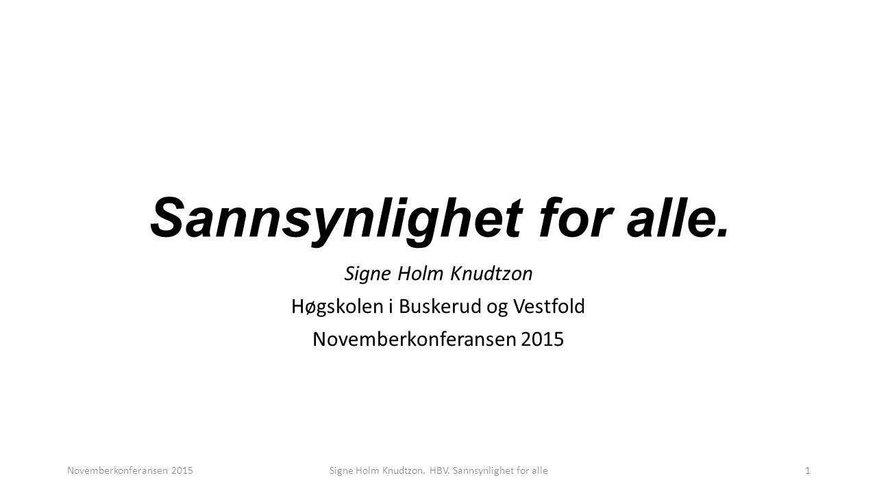 Arbeidsmåte Presentere problem Gjette (tegne) Prøve ut Begrunne, beregne, tegne, diskutere Novemberkonferansen 2015Signe Holm Knudtzon.
