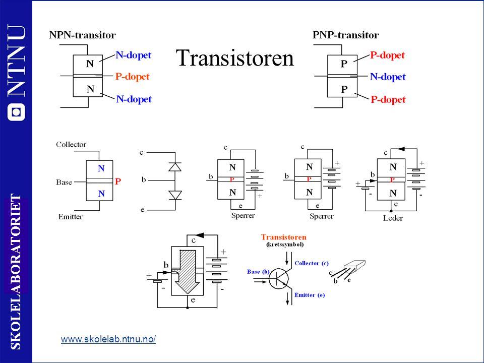 11 SKOLELABORATORIET Transistoren www.skolelab.ntnu.no/