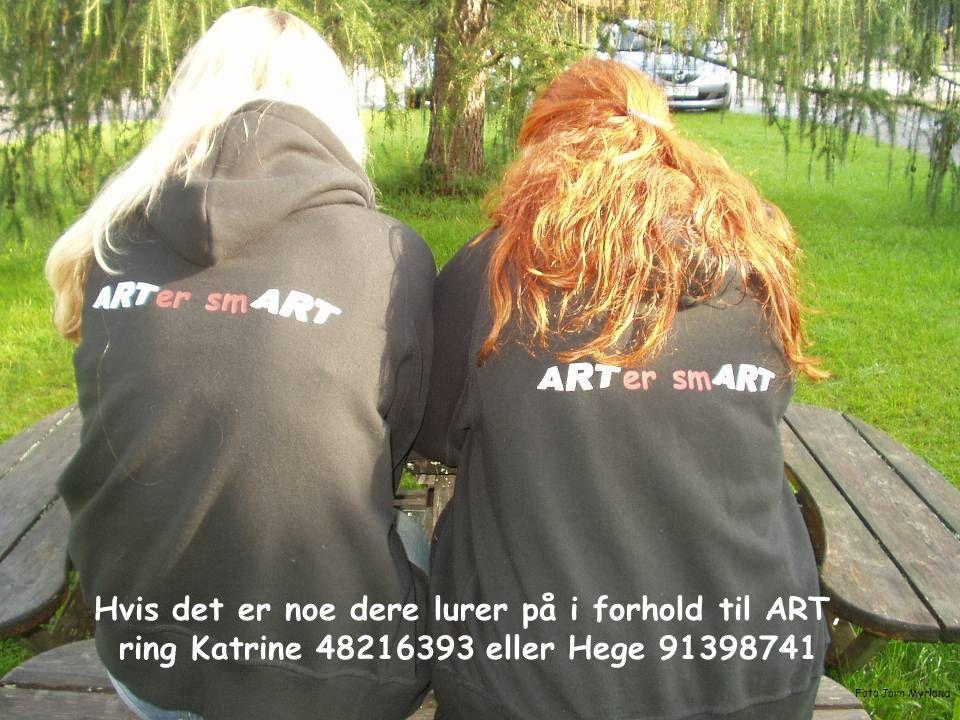 12 er sm Hvis det er noe dere lurer på i forhold til ART, ring Katrine 48216393 eller Hege 91398741 Foto Jørn Myrland