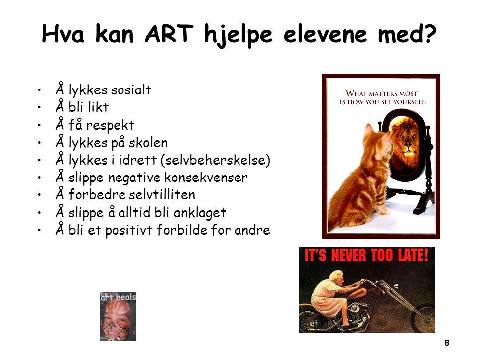 8 Hva kan ART hjelpe elevene med.