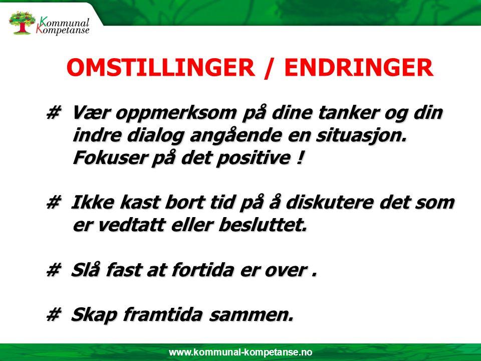 www.kommunal-kompetanse.no # Vær oppmerksom på dine tanker og din indre dialog angående en situasjon.