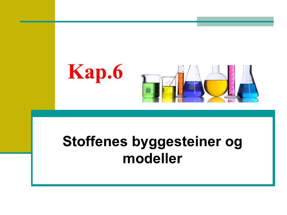 Kap.6 Stoffenes byggesteiner og modeller