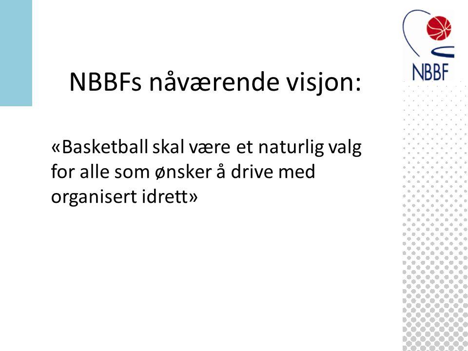 «Basketball skal være et naturlig valg for alle som ønsker å drive med organisert idrett» NBBFs nåværende visjon: