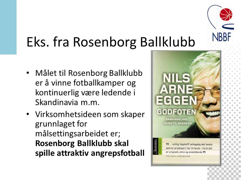 Målet til Rosenborg Ballklubb er å vinne fotballkamper og kontinuerlig være ledende i Skandinavia m.m.