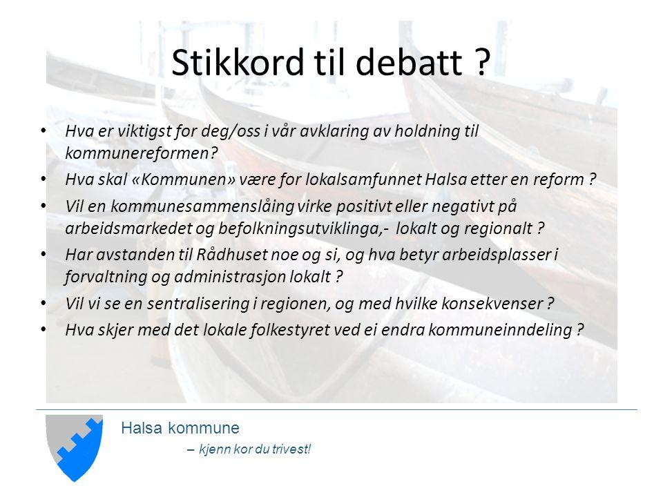 Halsa kommune – kjenn kor du trivest. Stikkord til debatt .