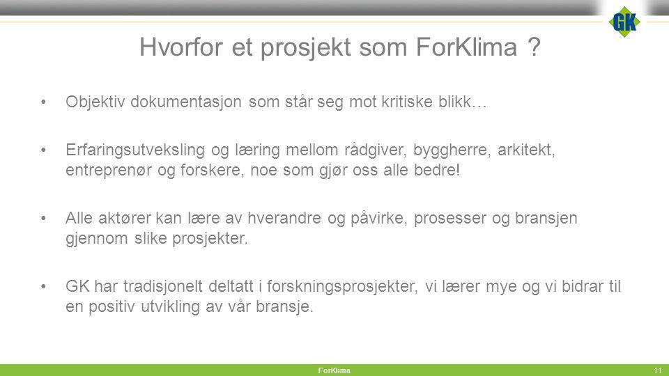 Hvorfor et prosjekt som ForKlima .