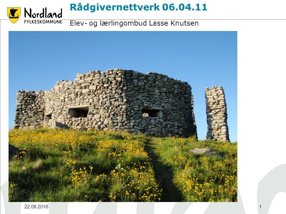 22.09.20161 Rådgivernettverk 06.04.11 Elev- og lærlingombud Lasse Knutsen
