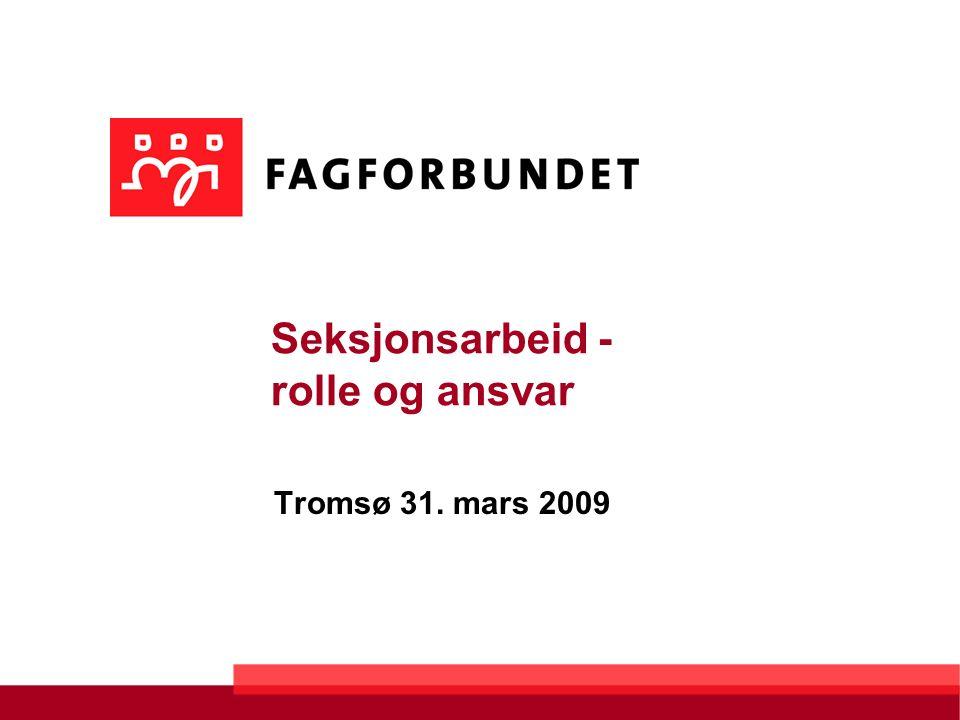 Seksjonsarbeid - rolle og ansvar Tromsø 31. mars 2009