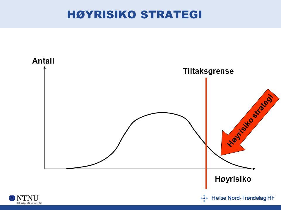 Helse Nord-Trøndelag HF HØYRISIKO STRATEGI Høyrisiko Antall Tiltaksgrense Høyrisiko strategi