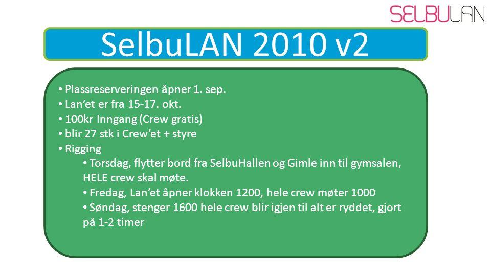 SelbuLAN 2010 v2 Plassreserveringen åpner 1. sep.