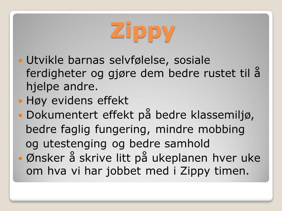 Zippy Utvikle barnas selvfølelse, sosiale ferdigheter og gjøre dem bedre rustet til å hjelpe andre.