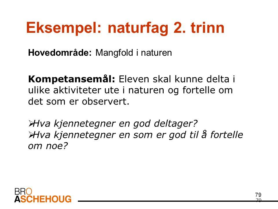 79 Eksempel: naturfag 2.