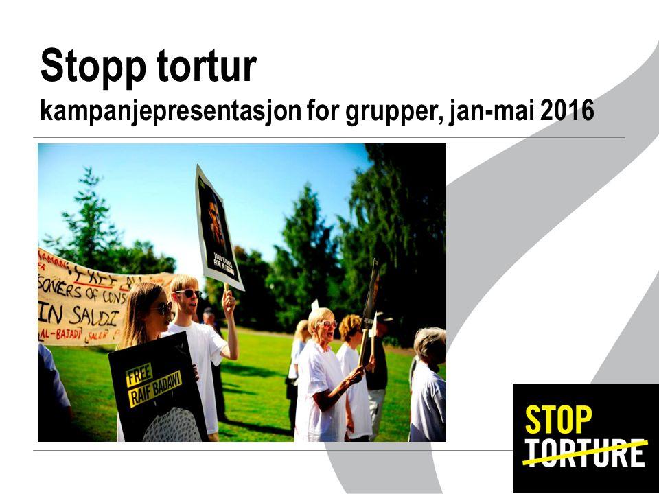 Stopp tortur kampanjepresentasjon for grupper, jan-mai 2016