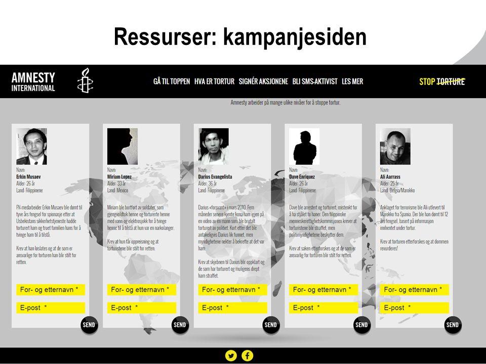 Ressurser: kampanjesiden